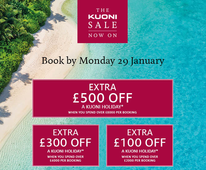 Up to an extra £500 off a Kuoni holiday